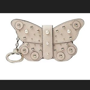Kate Spade Butterfly Card Case Wallet Key Ring